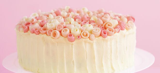 Крем для торта из белого шоколада