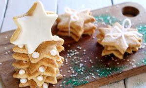 Новогоднее песочное печенье с глазурью