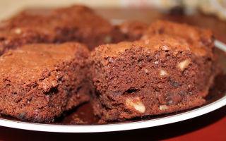 Шоколадный брауни с грецкими орехами