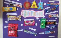 Плакат со сладостями
