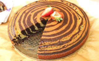 Вкусные рецепты пирога «Зебра»