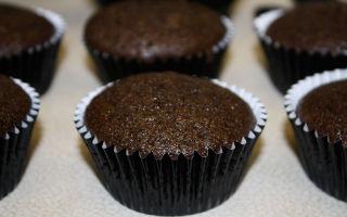 Рецепт шоколадных кексов в бумажных формочках