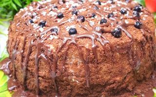 Торт «Черный принц» с вареньем из черной смородины