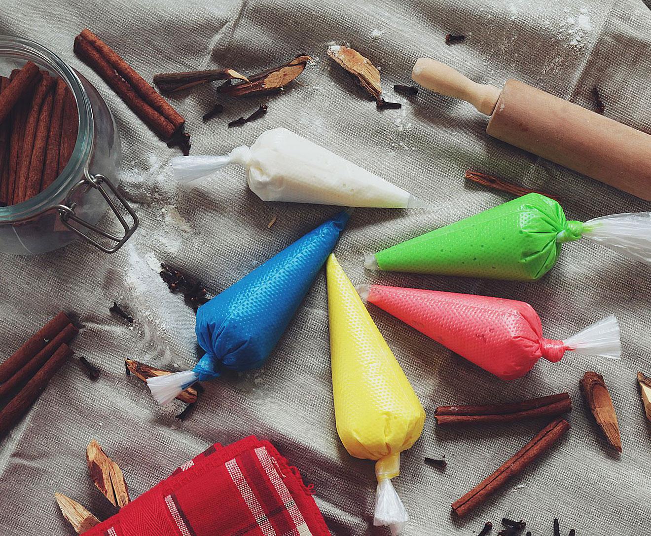 Разноцветная глазурь для пряников