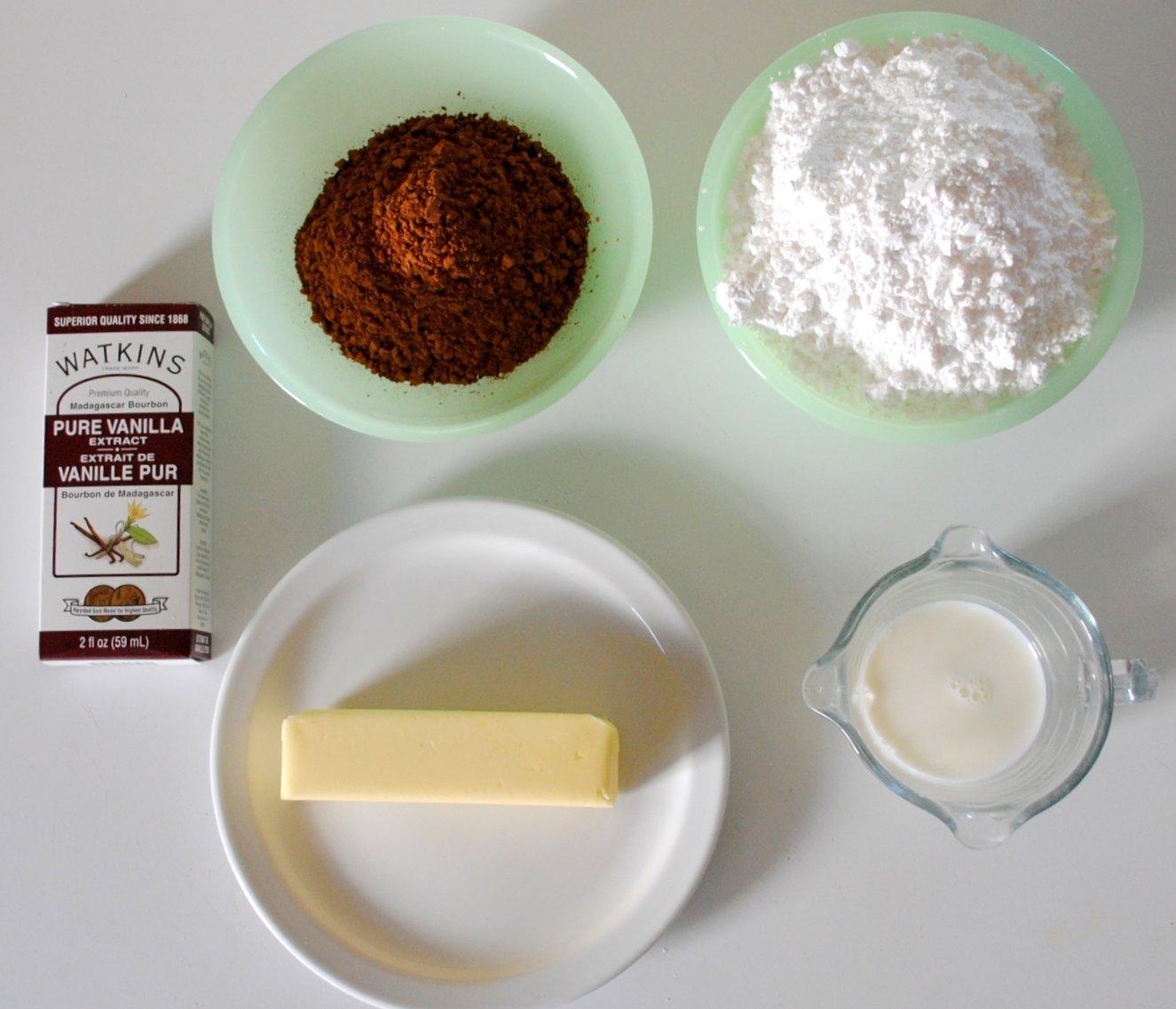Ингредиенты для молочной глазури