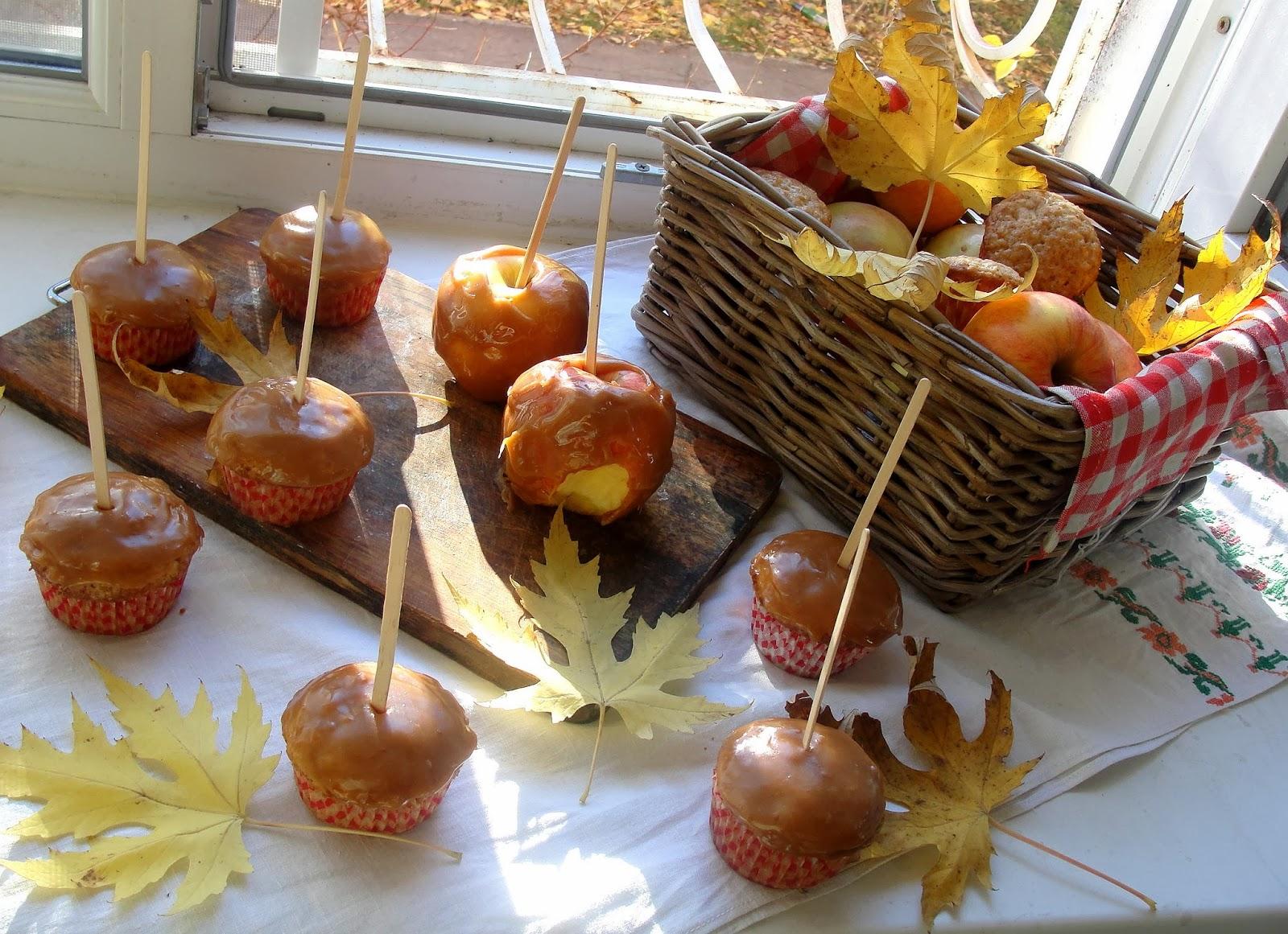 Яблоки в карамели из ирисок