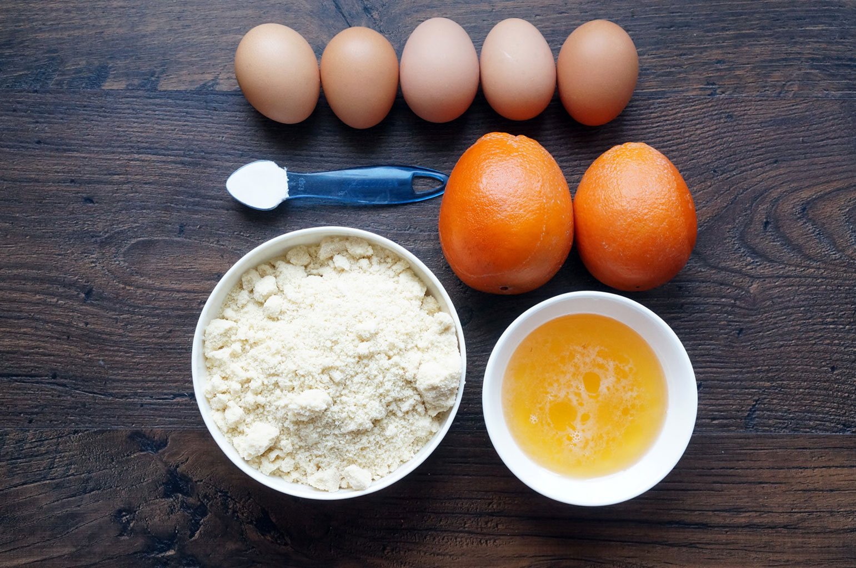 Ингредиенты для апельсиновых сконов