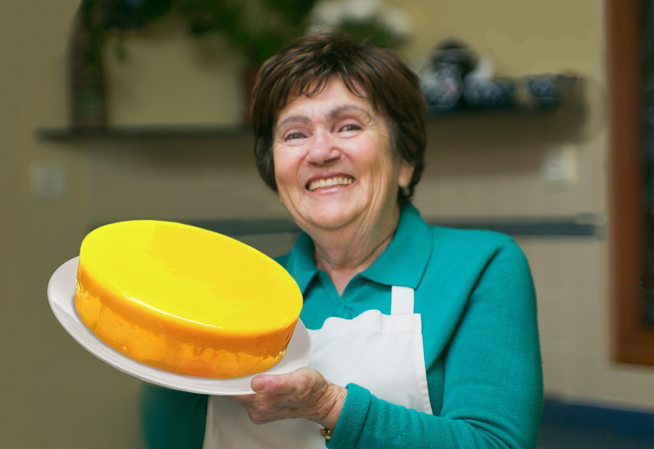 Торт с лимонной глазурью