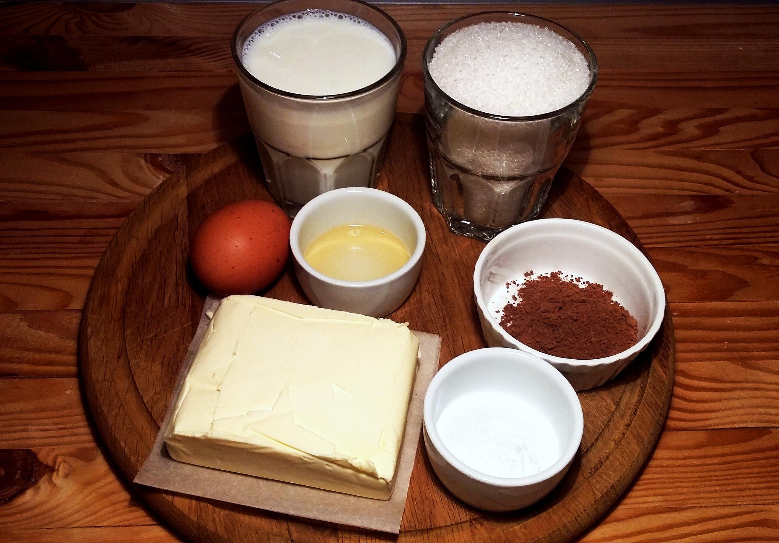 """Ингредиенты для шоколадного крема """"Шарлотт"""""""