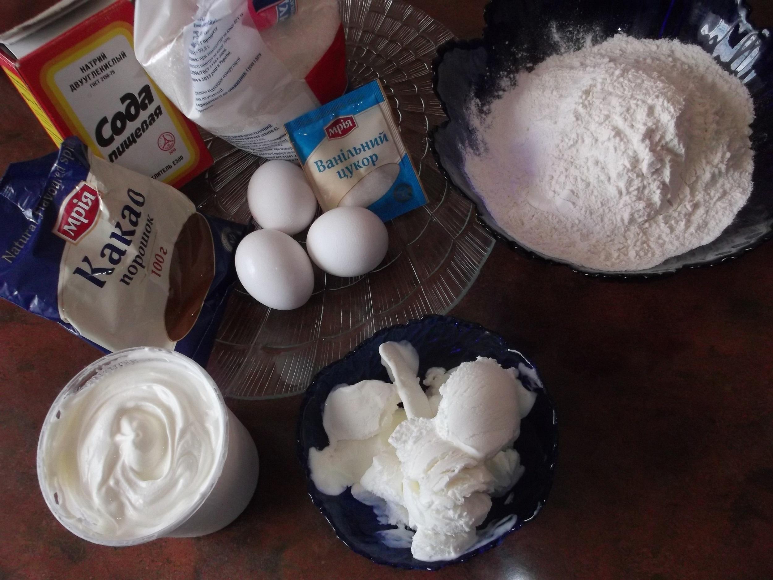 Ингредиенты для приготовления торта «Кучерявый пинчер»