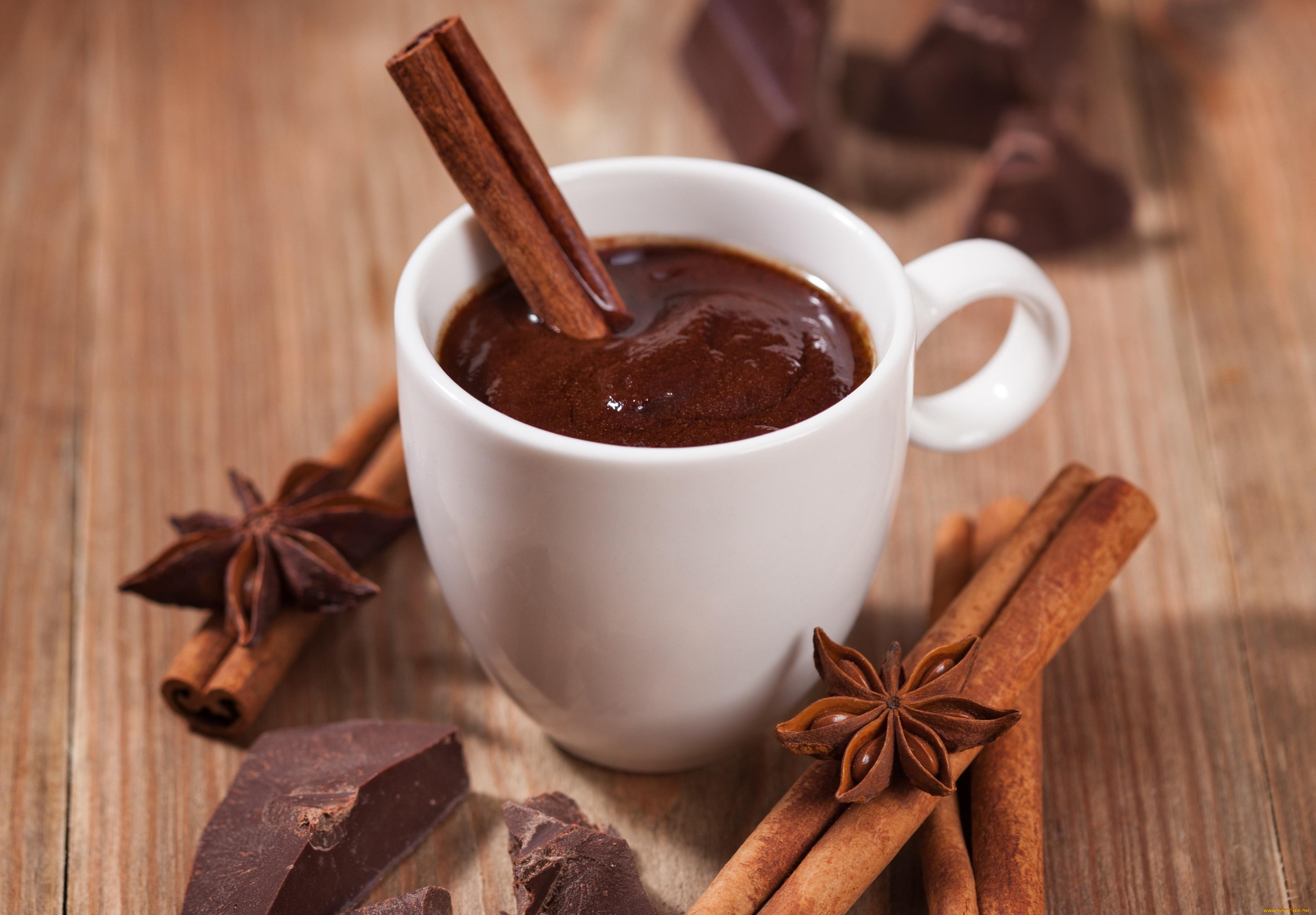 Горячий шоколад из шоколада со специями