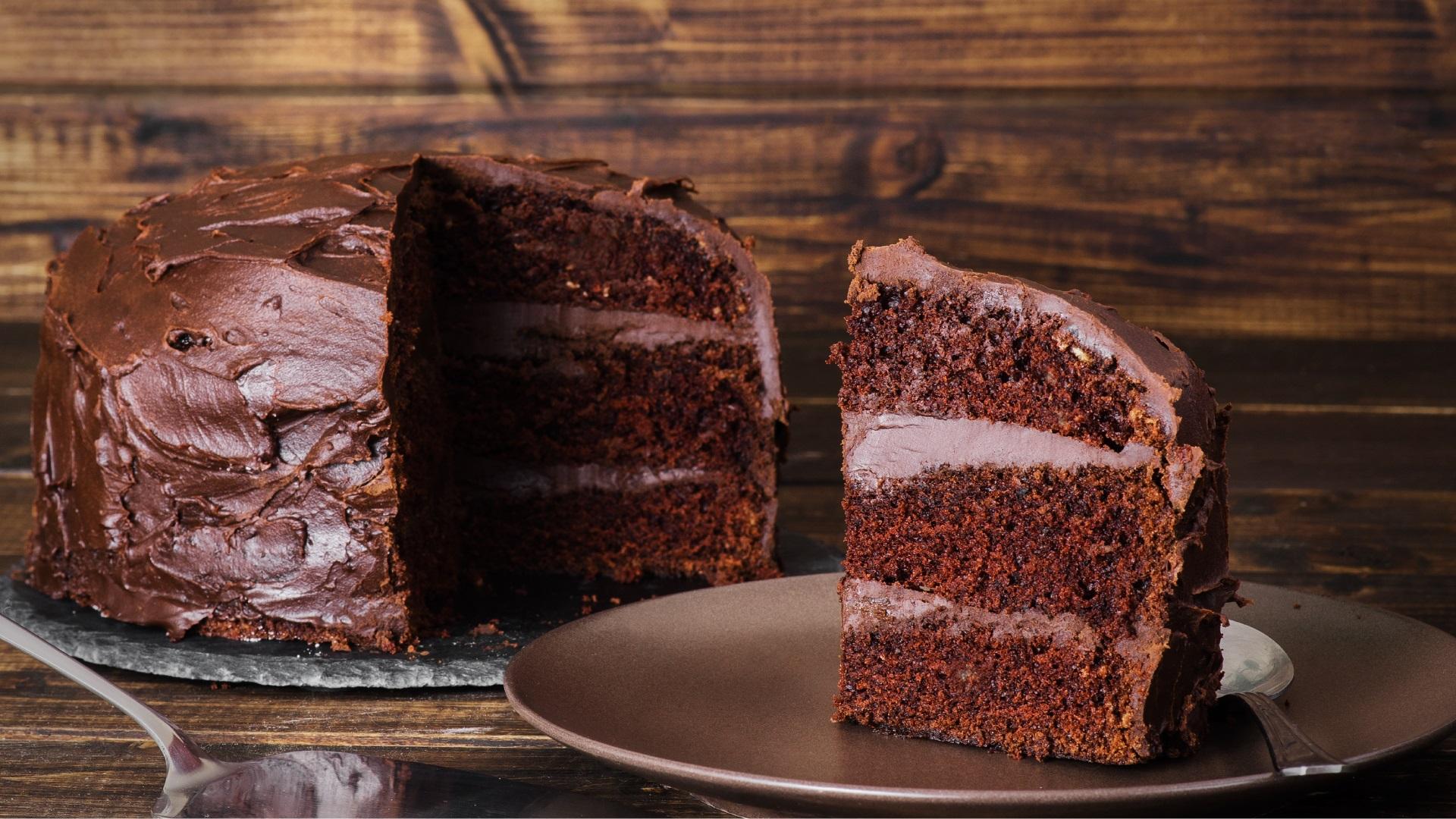 Торт с шоколадным заварным кремом