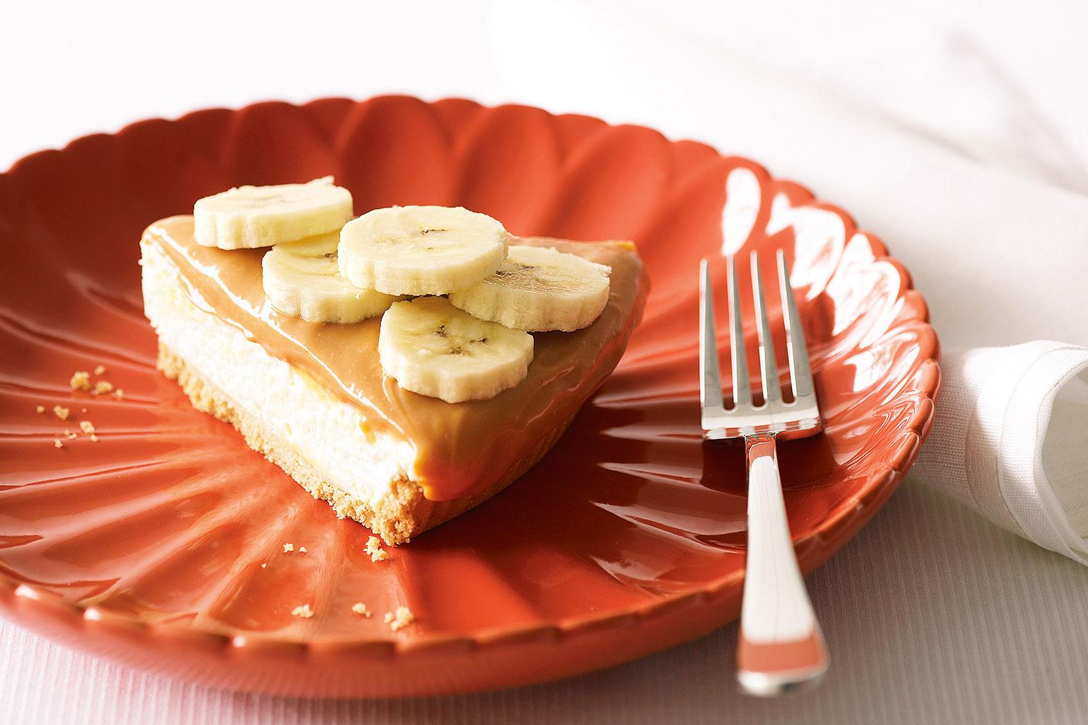 Чизкейк с бананом и творогом