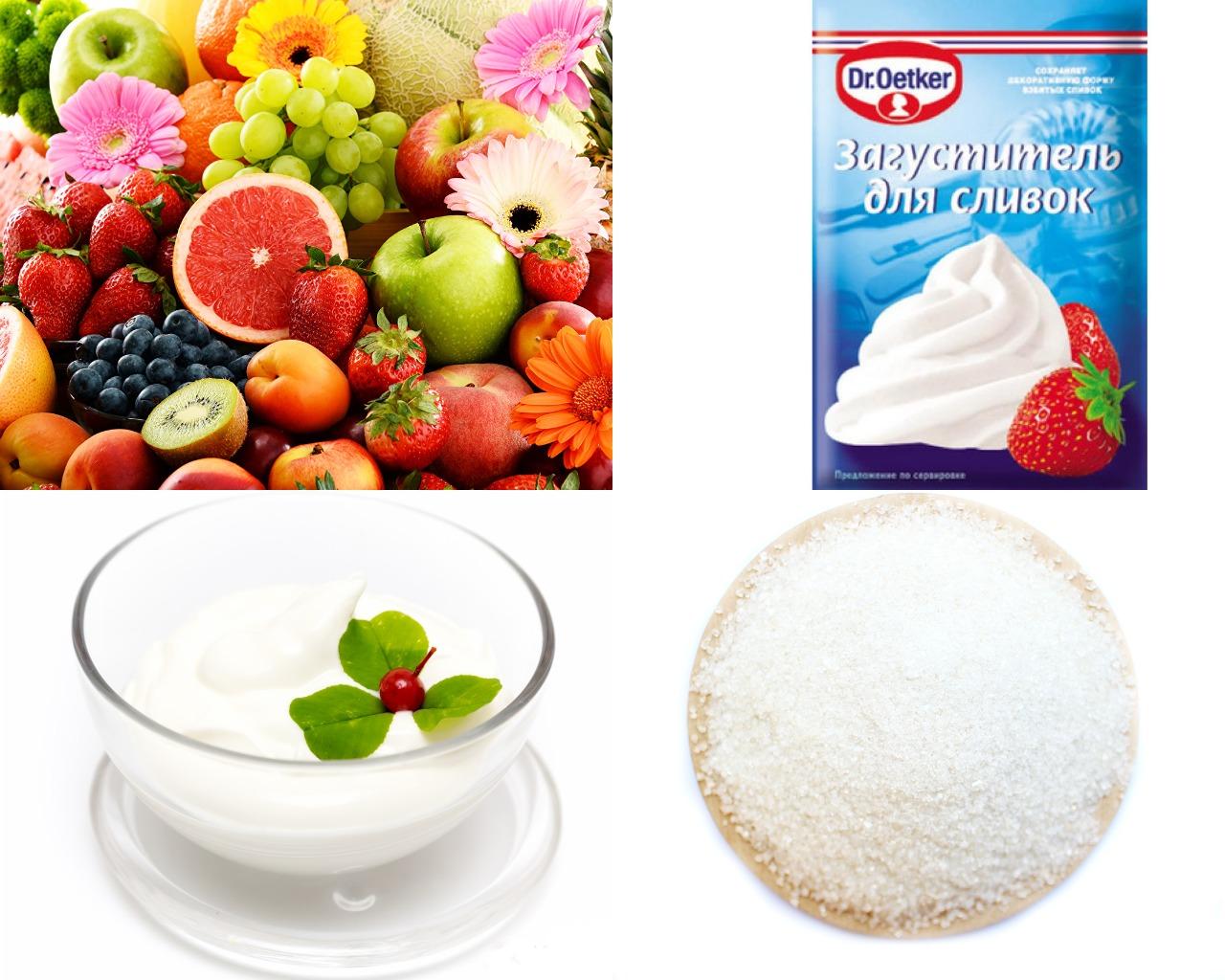 Ингредиенты для фруктового мусса