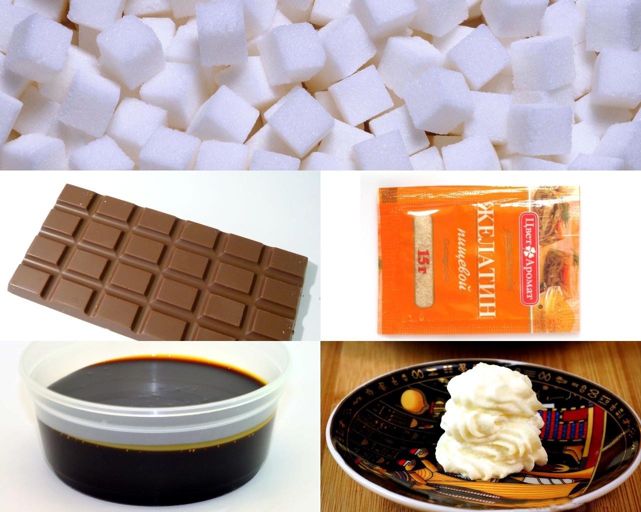 Ингредиенты для карамельной глазури