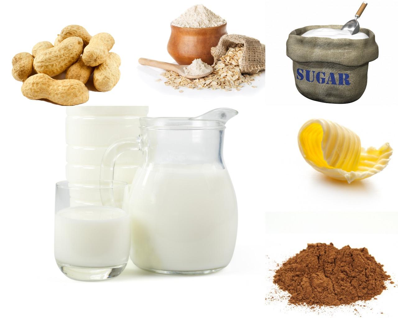 Ингредиенты для шоколадно-арахисового крема