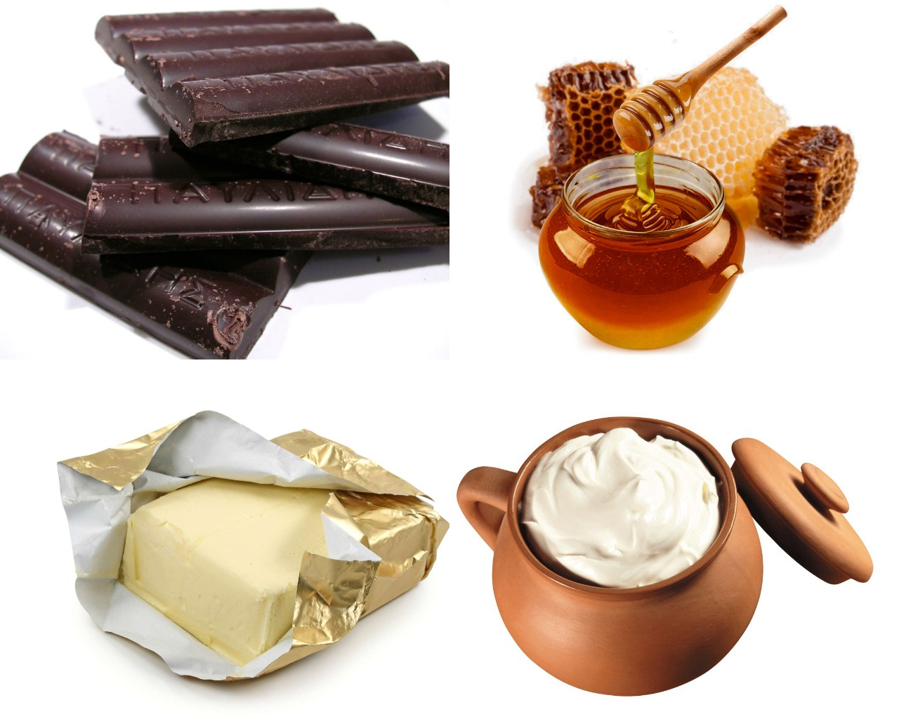 Ингредиенты для шоколадного ганаша с медом