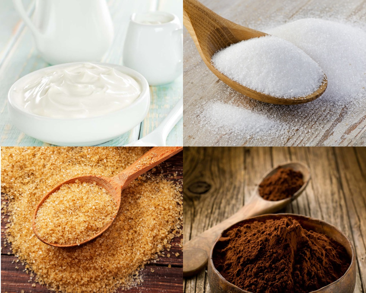 Ингредиенты для шоколадного крема с желатином