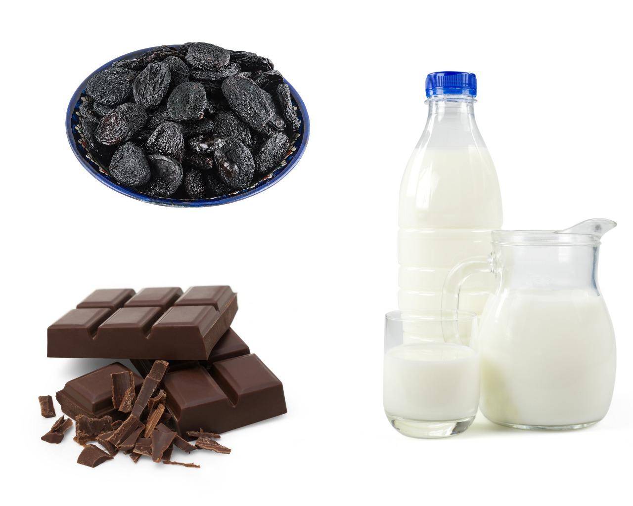 Ингредиенты для шоколадных конфет с черносливом