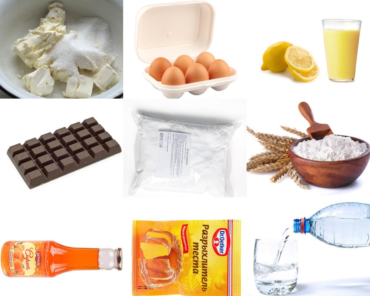 """Ингредиенты для венского торта """"Захер"""""""