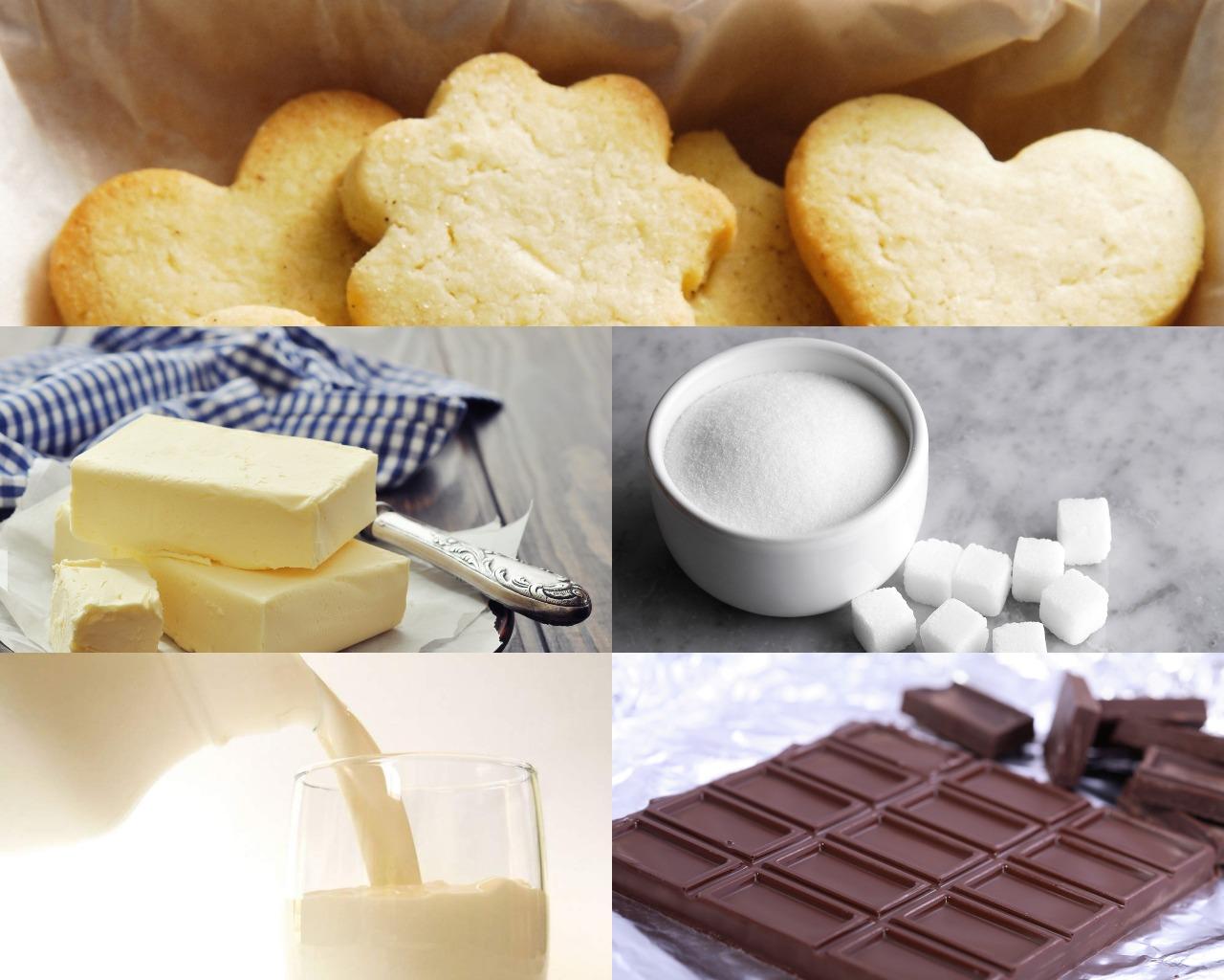 Состав ингредиентов для десертов
