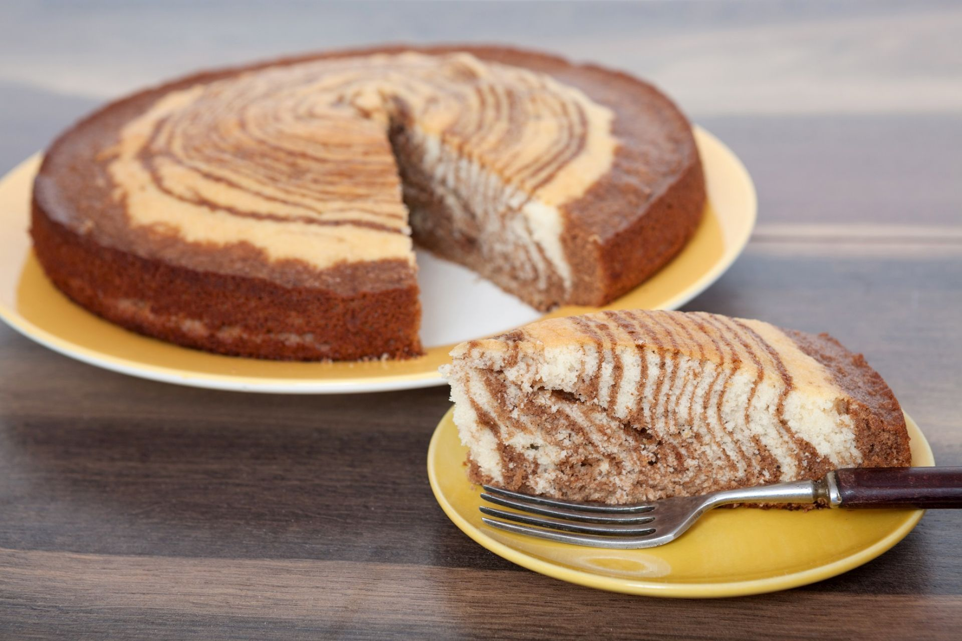 Классический пирог «Зебра»