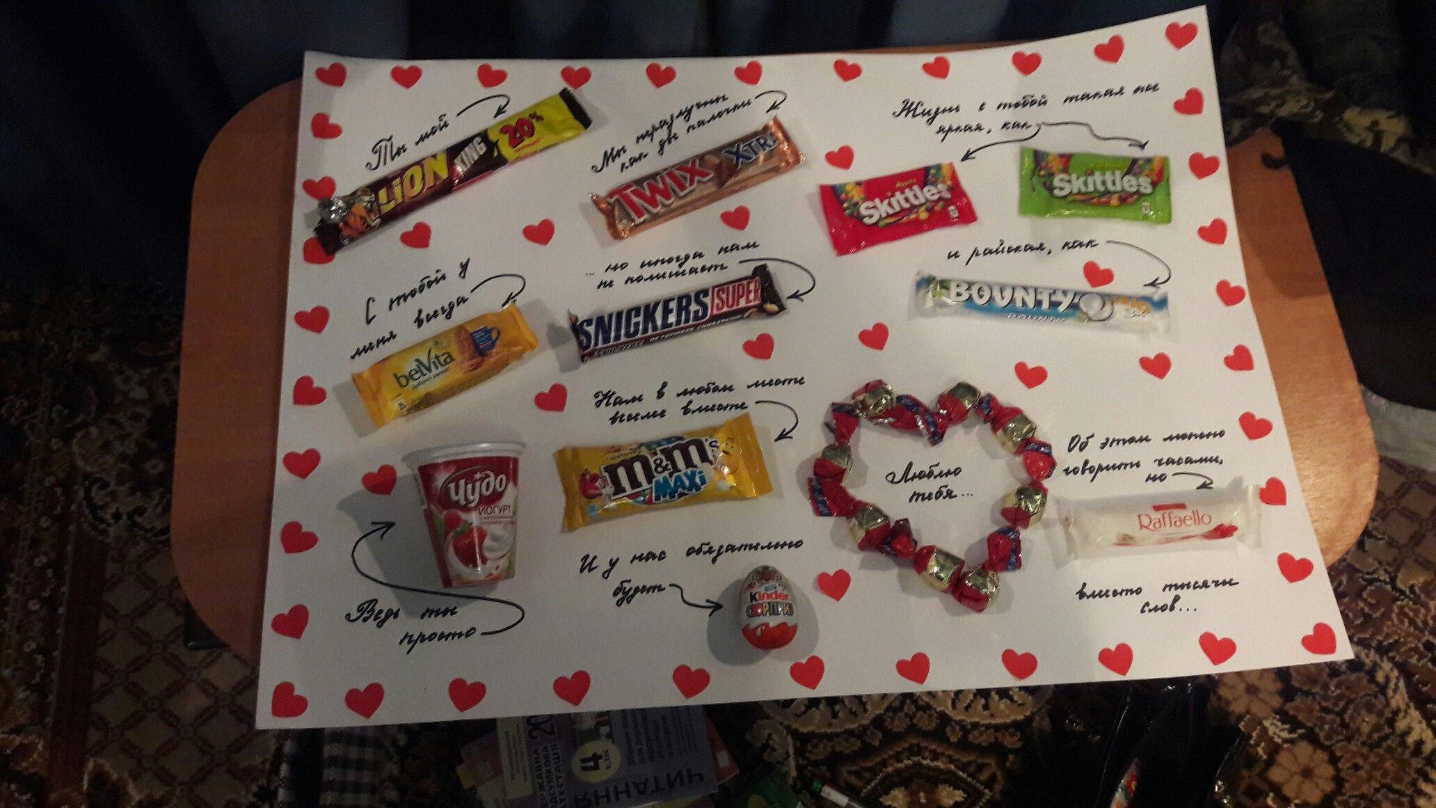 Поздравления плакат из сладостей на день рождения фото 169