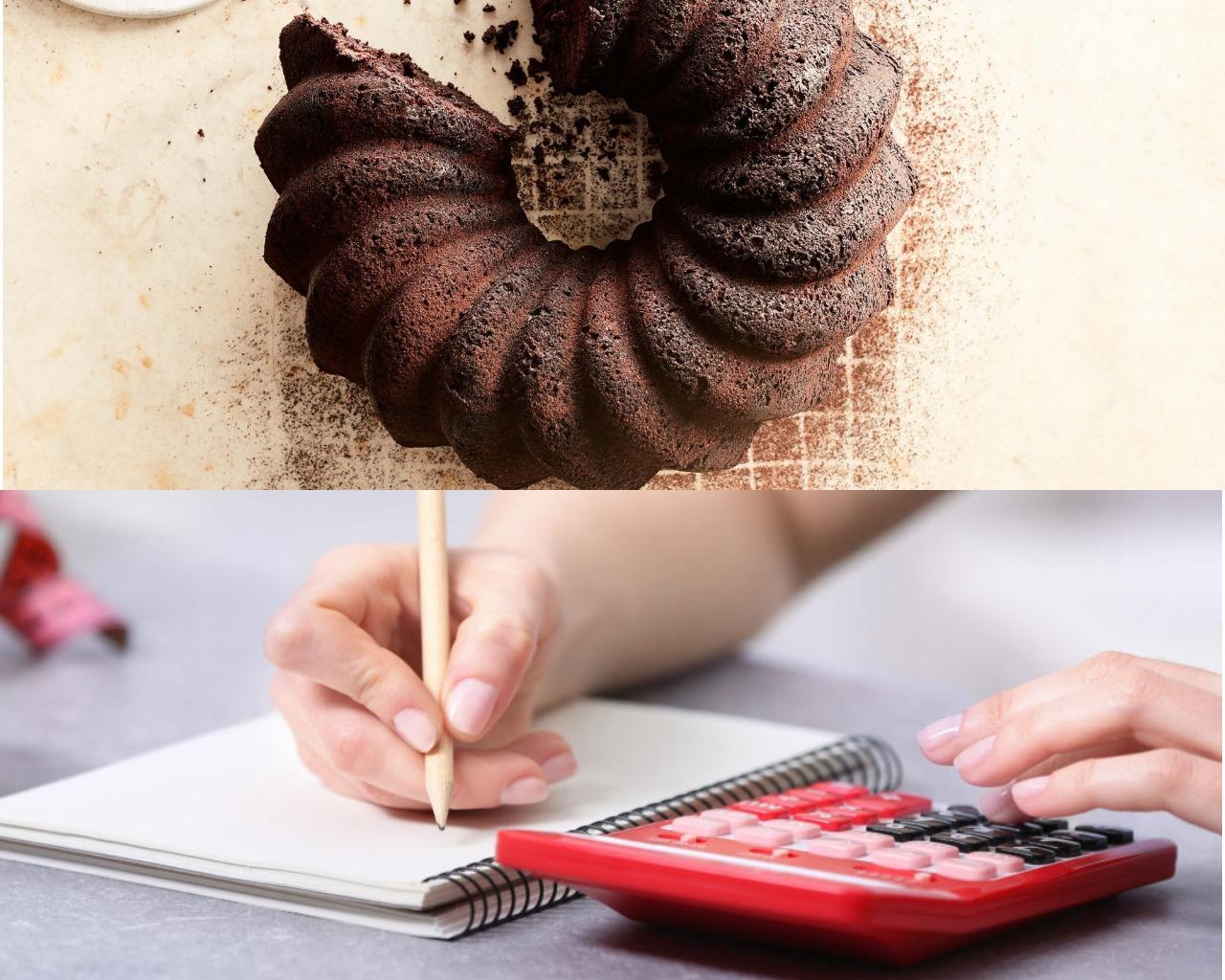 Подсчет калорий постного шоколадного кекса