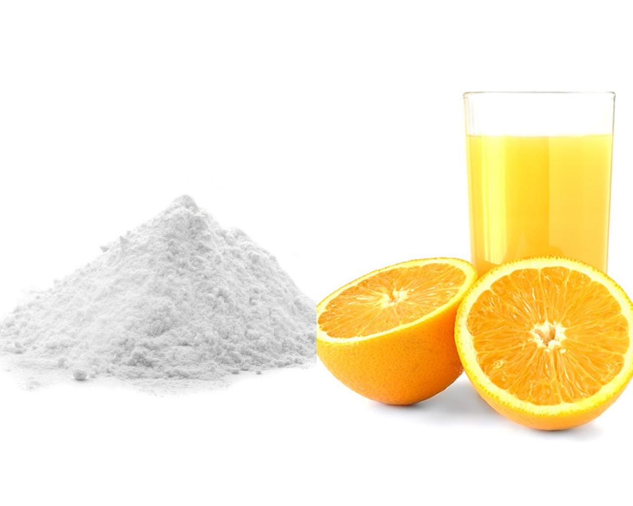 Сахарная пудра и апельсиновый сок