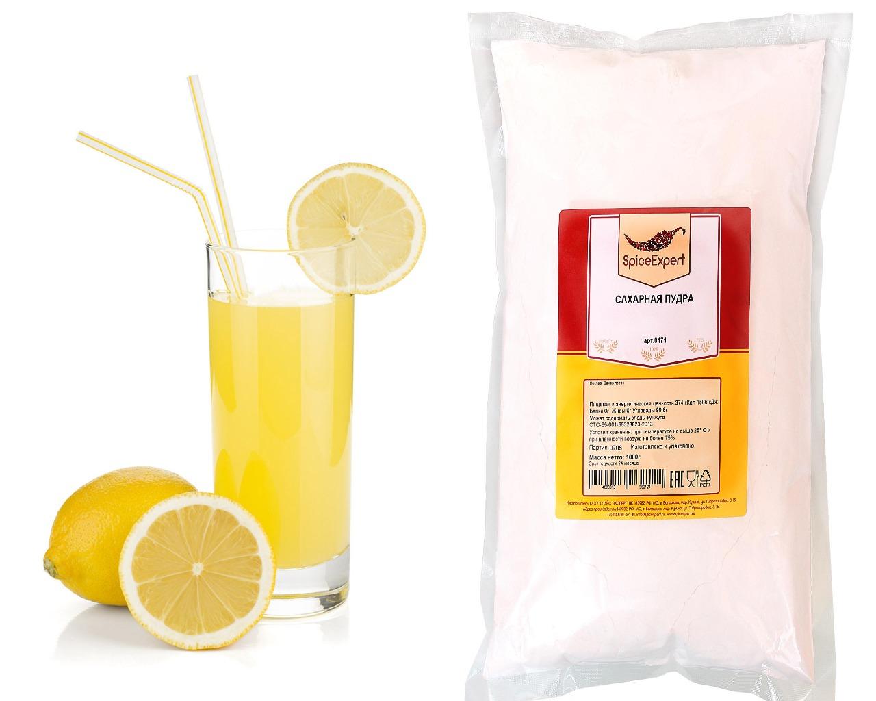 Сахарная пудра и лимонный сок