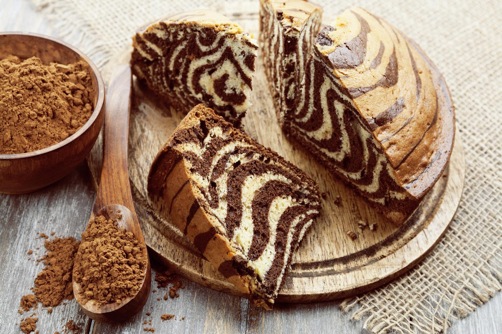 Торт «Зебра кофейный» на манке