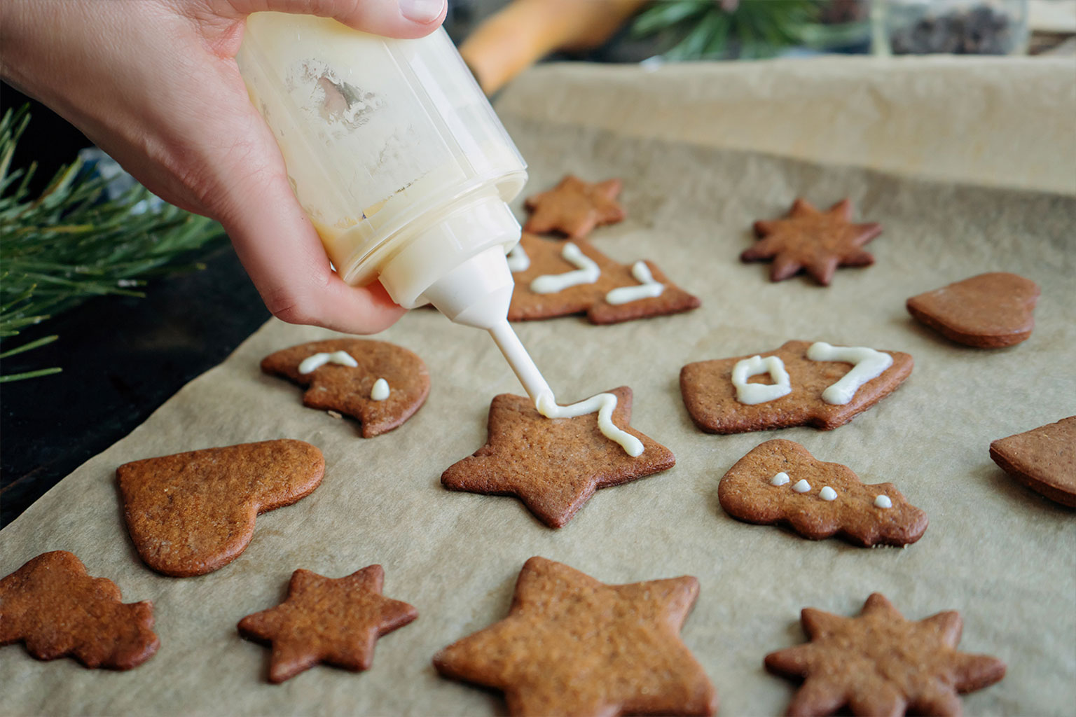 Украшение печенья глазурью