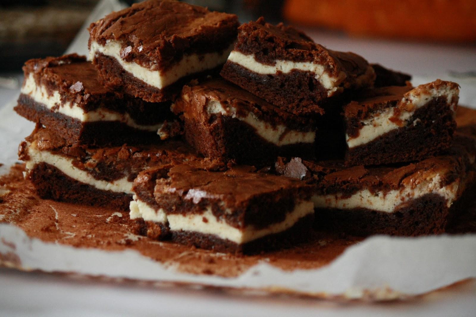 Брауни с творогом и шоколадом