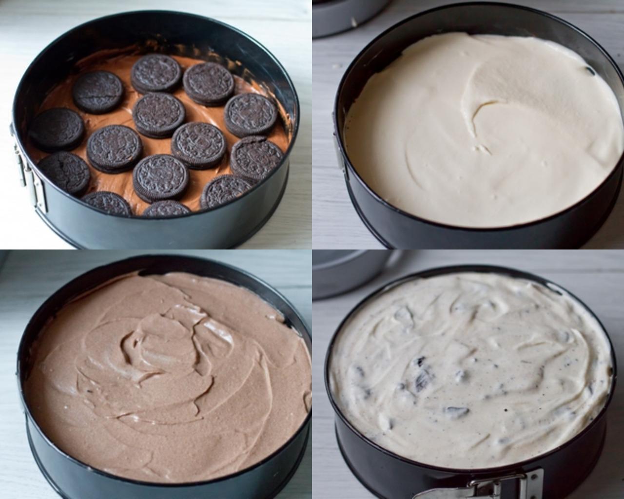 """Этапы приготовления чизкейка """"Шоколадное безумие"""""""