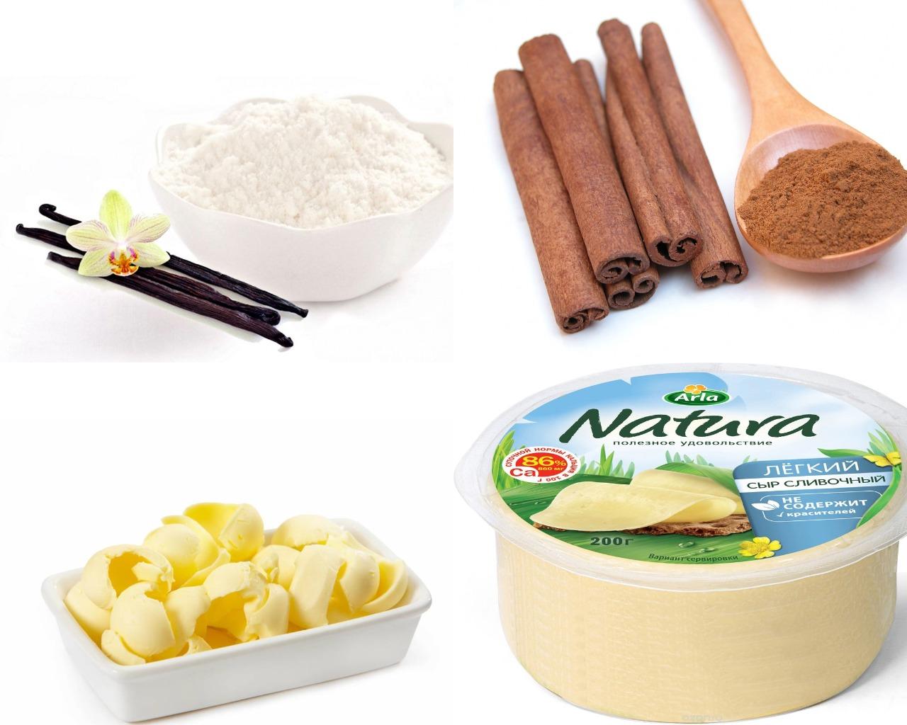 Ингредиенты для глазури со сливочным сыром