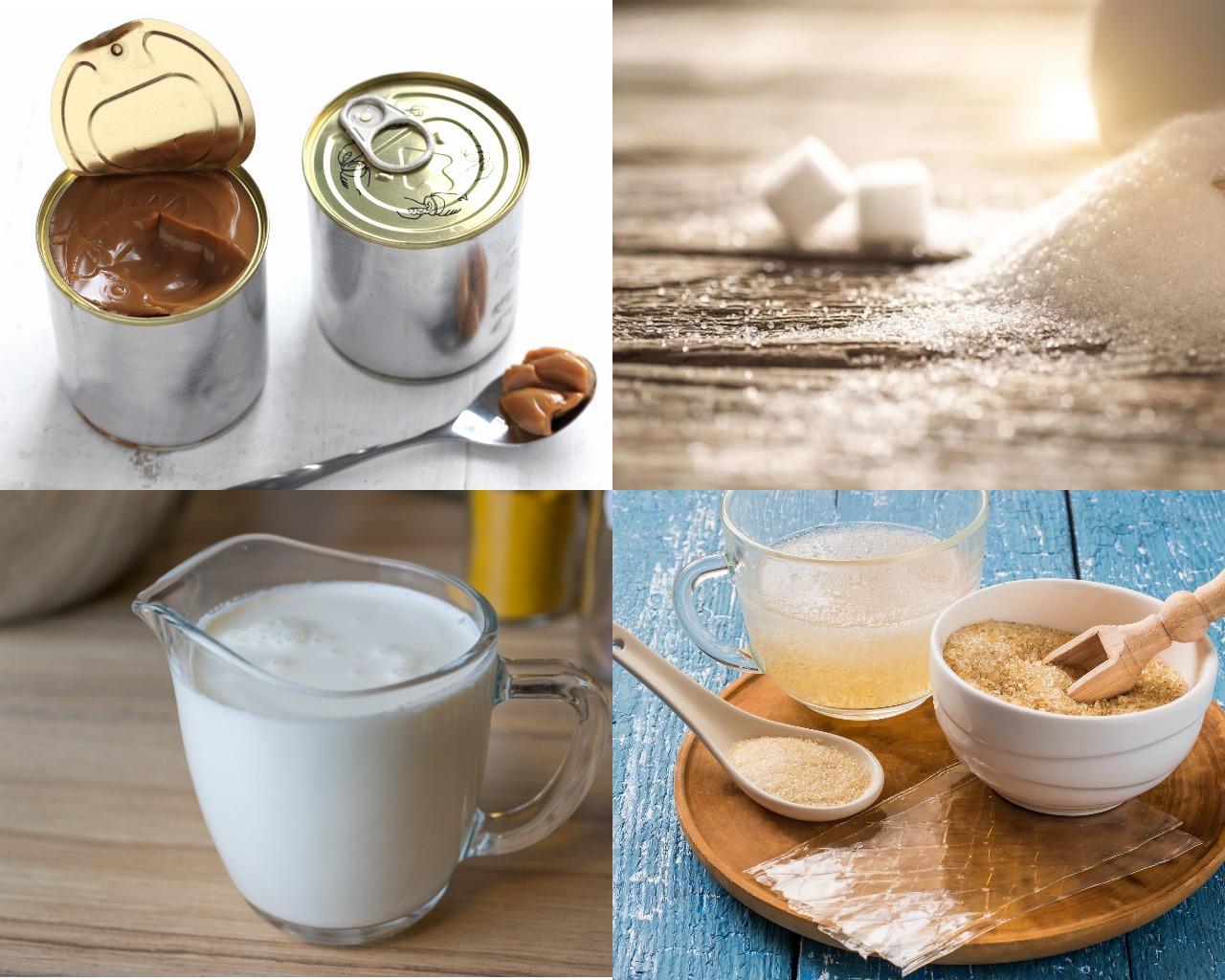 Ингредиенты для карамельной глазури на вареной сгущенке