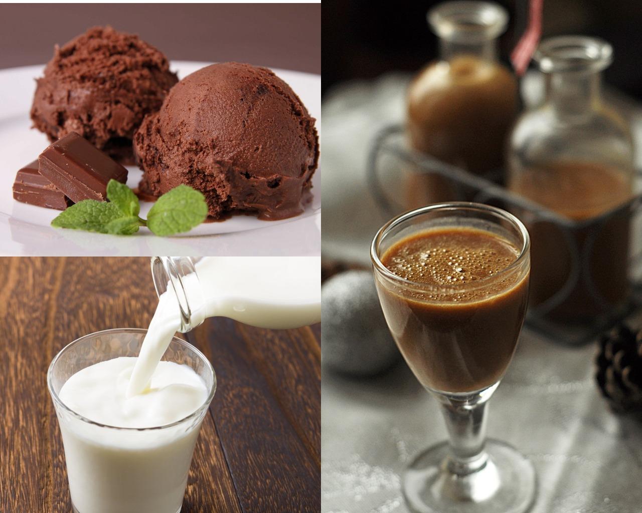 Ингредиенты для коктеля с шоколадным ликером