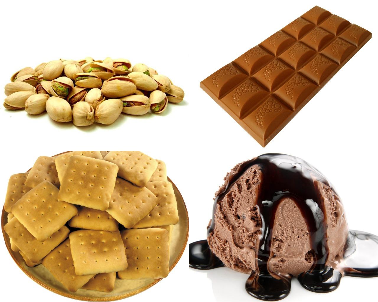 Ингредиенты для пирожного с мороженым