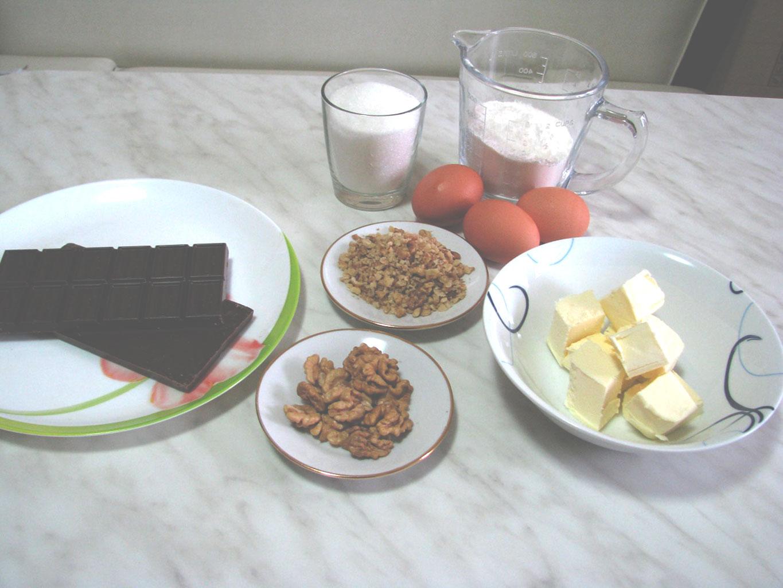 Ингредиенты для шоколадного брауни