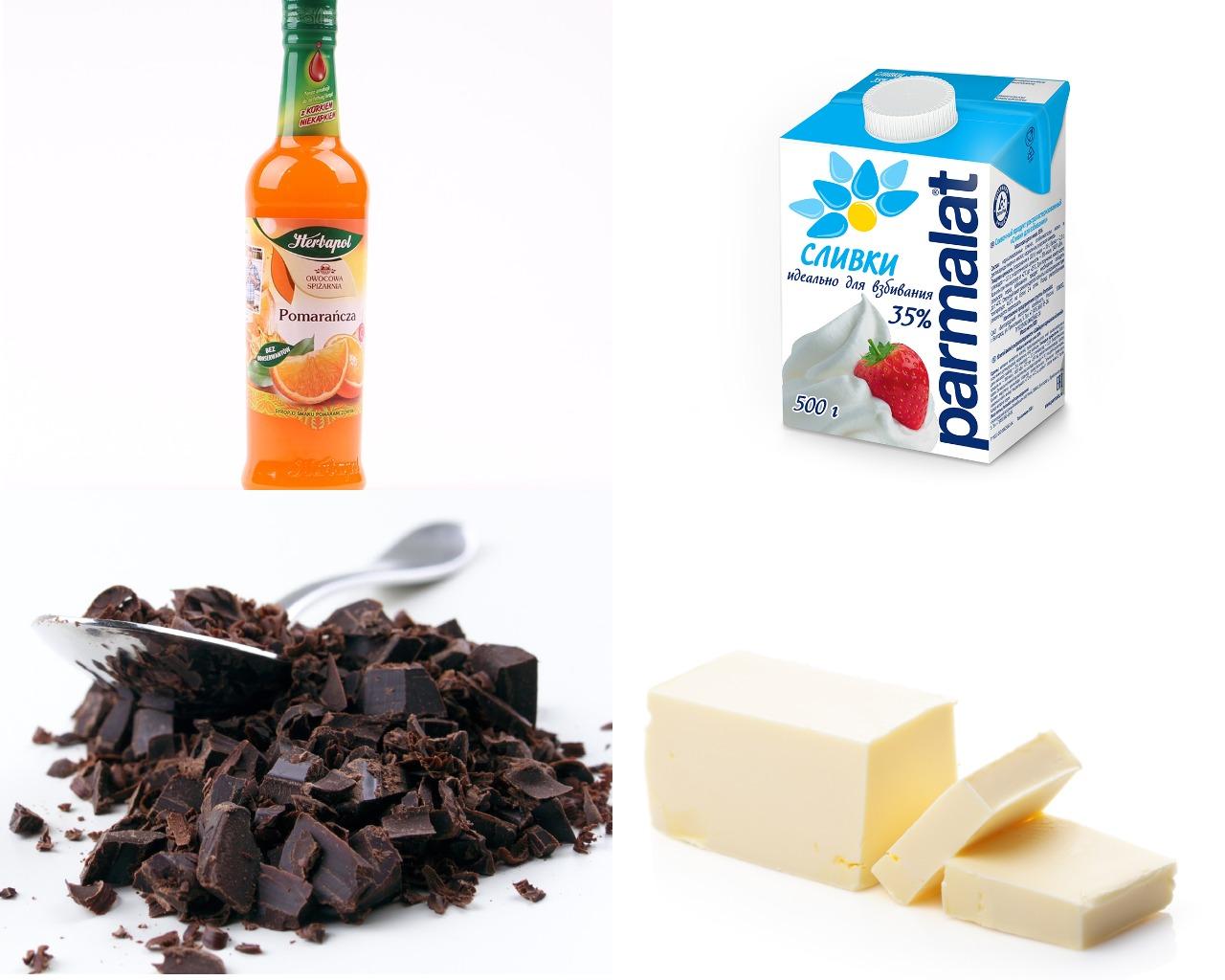 Ингредиенты для смеси для фондю с апельсиновым сиропом