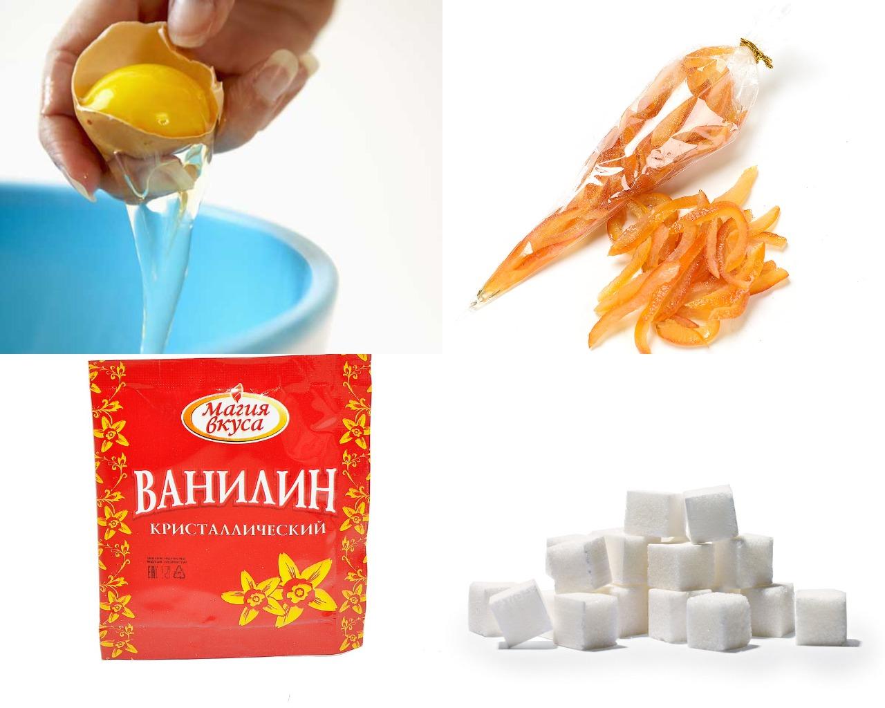 Ингредиенты для ванильной глазури