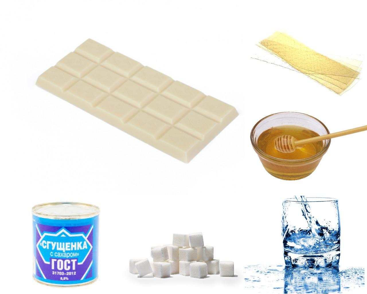 Ингредиенты для зеркальной глазури