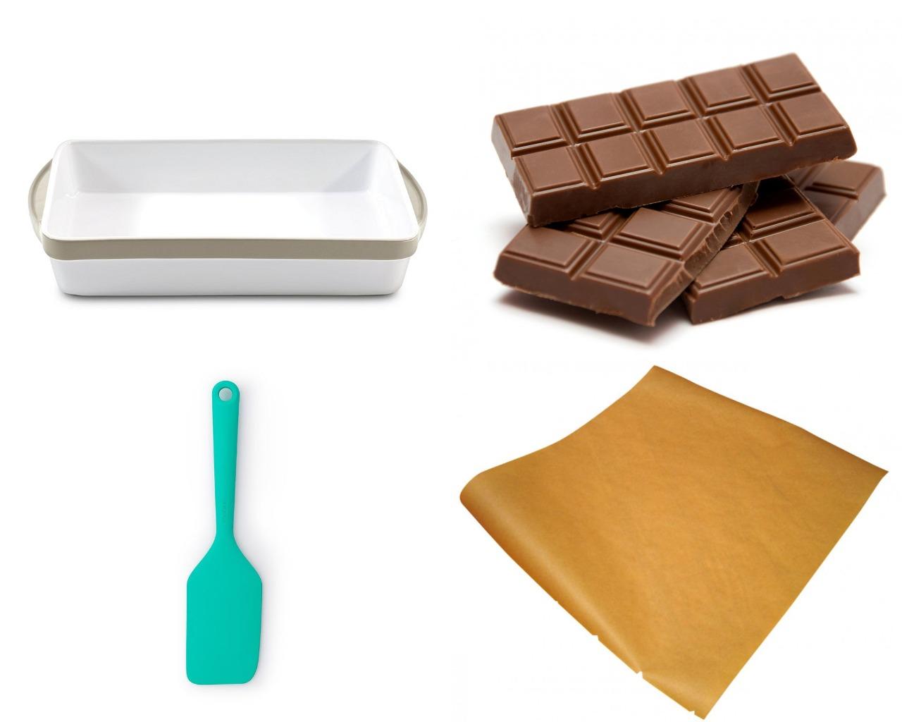 Инструменты и продукты для изготовления шоколадных букв