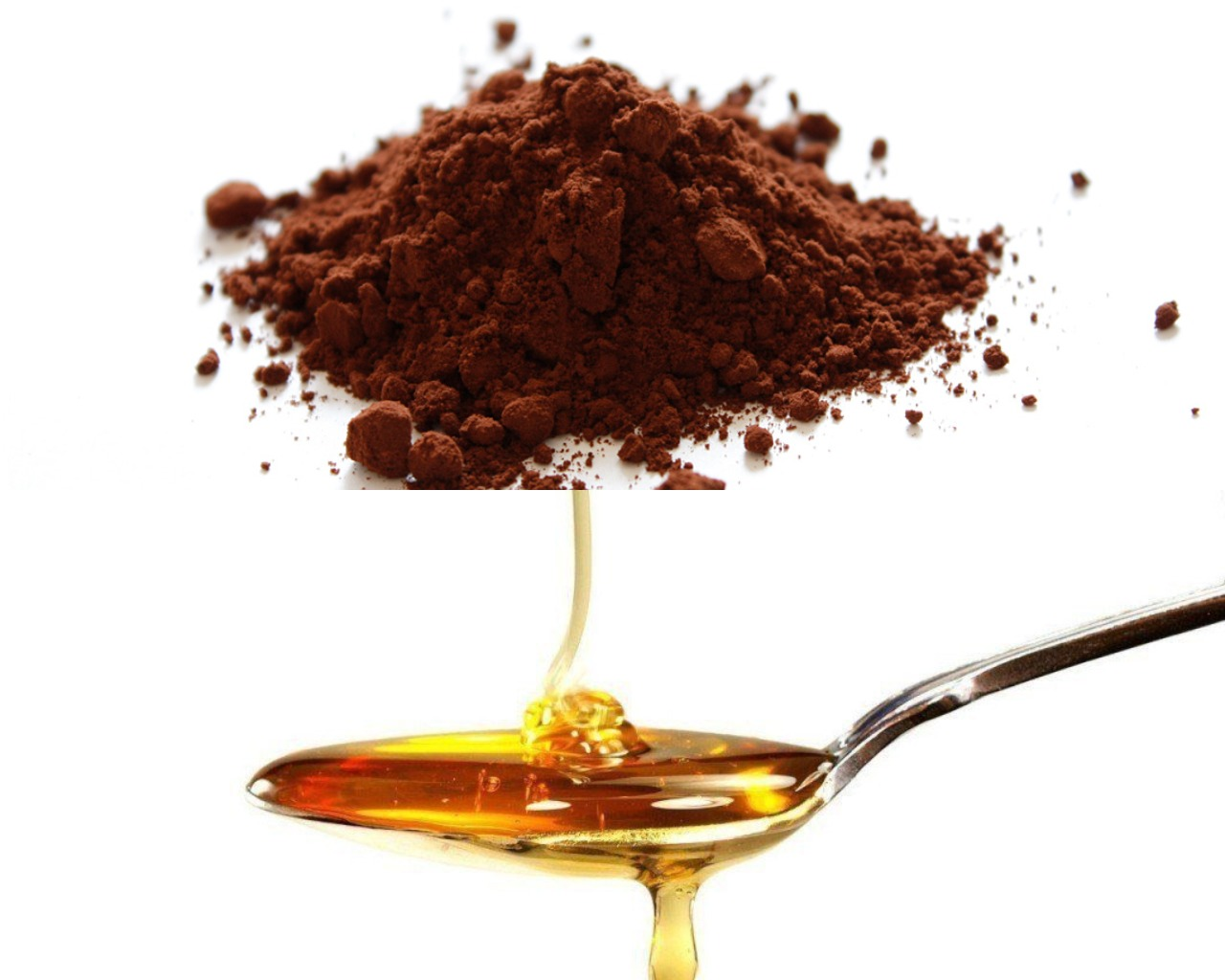 Мед и какао-порошок