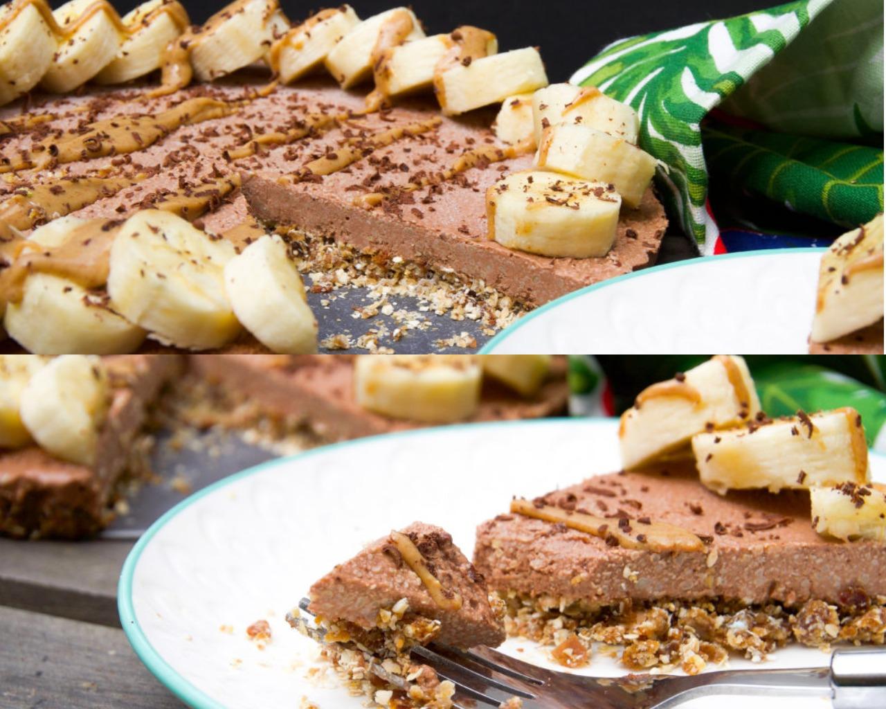 Шоколадно-банановый чизкейк