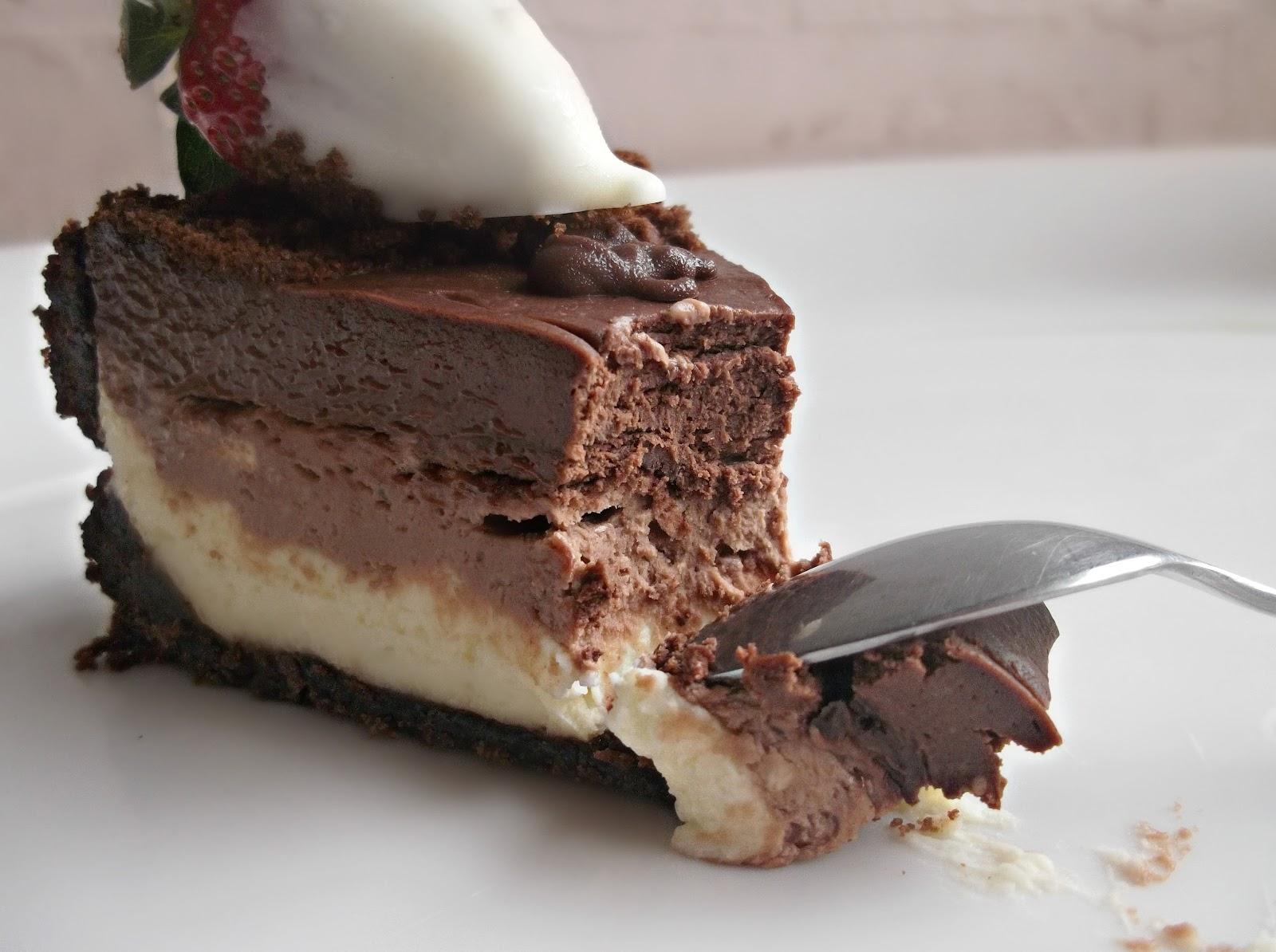 Ванильно-шоколадный чизкейк