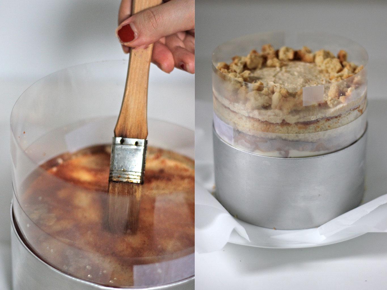 Вытащить торт из формы при помощи кольцевой ленты