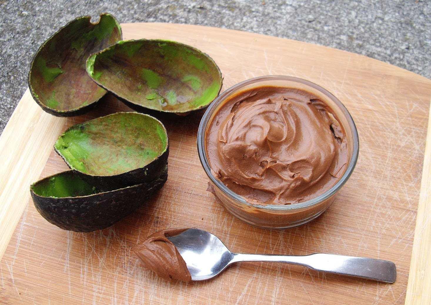 Шоколадная маска с авокадо