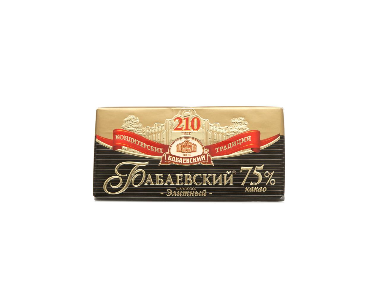 Шоколад с содержанием какао 75%