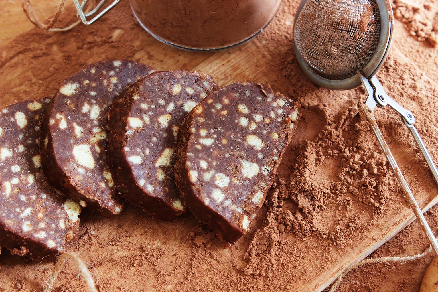 Диетическая шоколадная колбаса